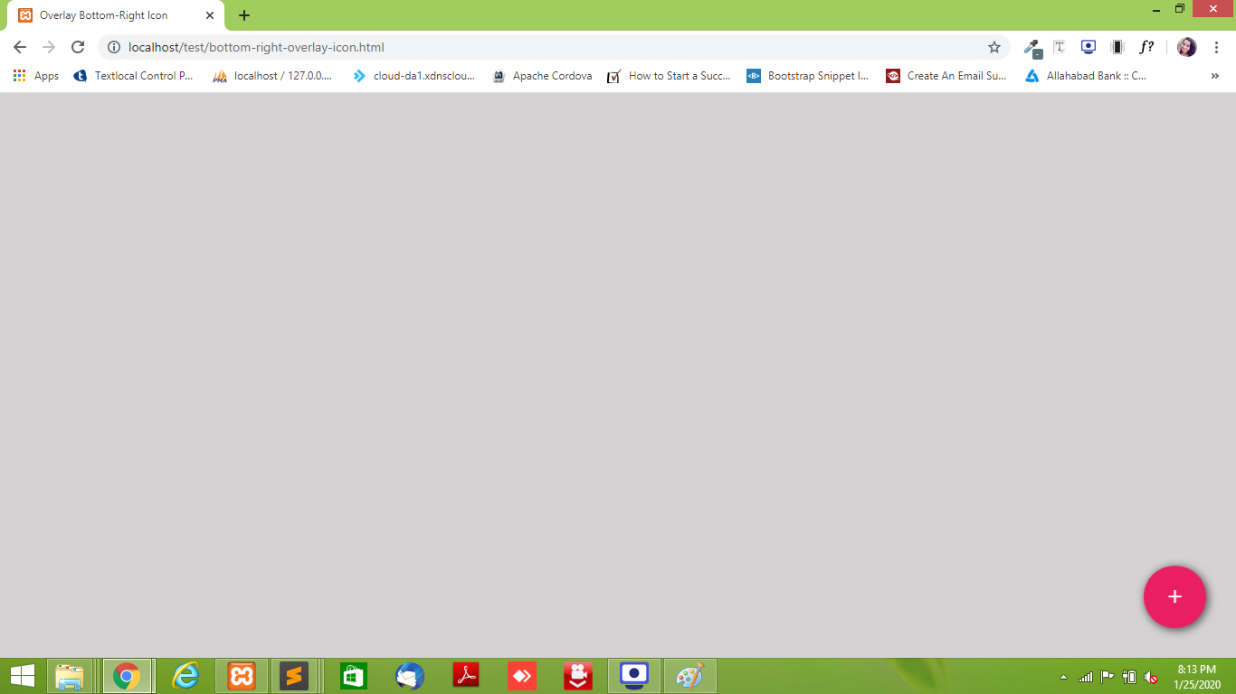 Overlay button on bottom right corner – simple CSS