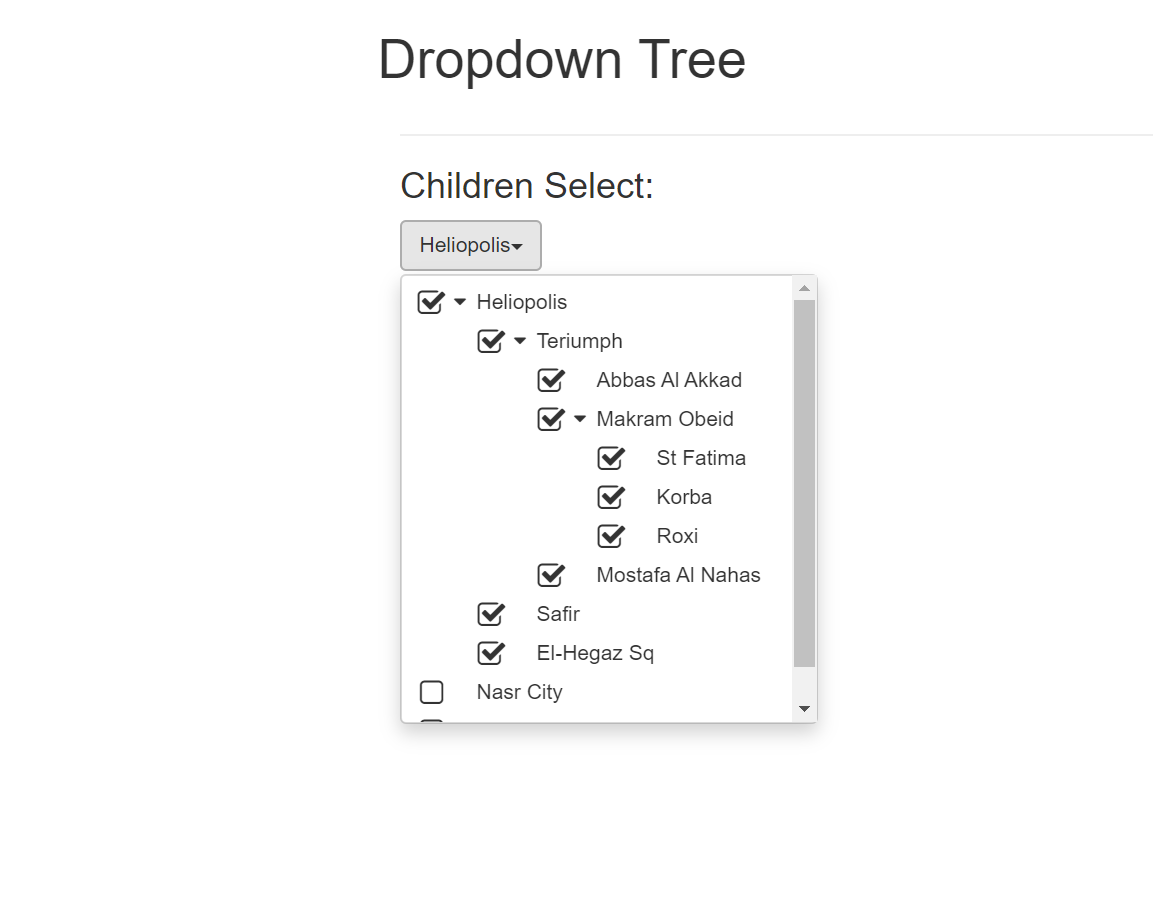 Dropdown Tree with Bootstrap and jQuery, Easy implementation