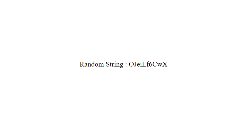 Generate Random alpha-numeric string by javascript – here is 1 simple methods