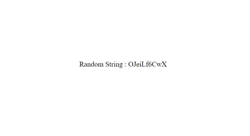 Random Alpha-Numeric String By Javascrip