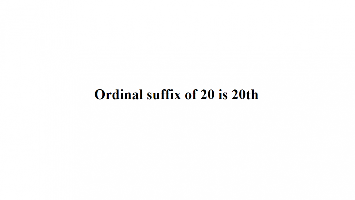 ordinal suffix php