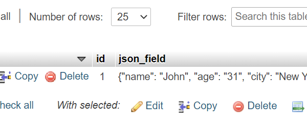 Extract values from JSON data using json_value() Sql – single query